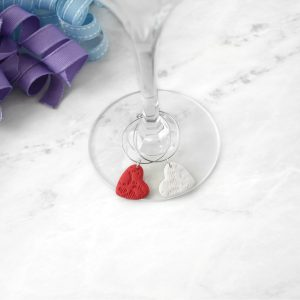 Heart Shaped Wine Charms