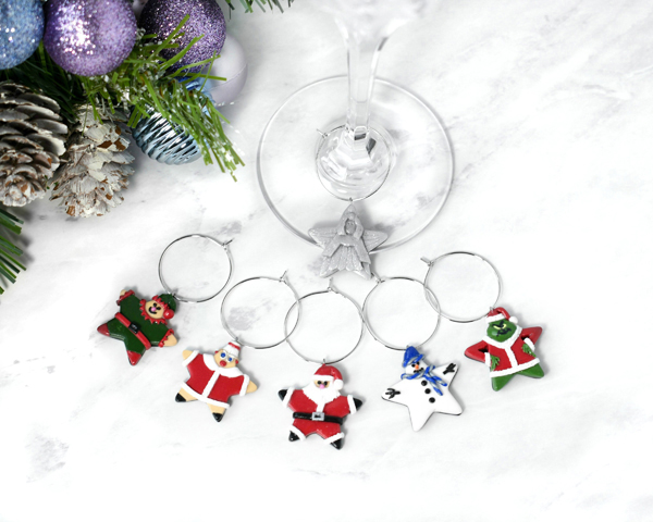 Holiday Star Wine Charms