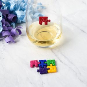 Puzzle Piece Wine Charms