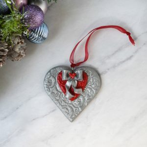 Handmade Clay Heart Ornament