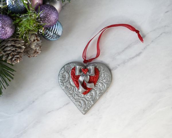 Handmade Clay Heart Ornament